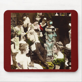 December 26th Hand Colored Vintage Christmas Mouse Pad