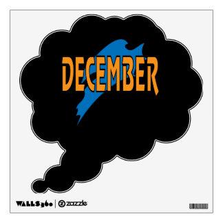 December 2 wall sticker