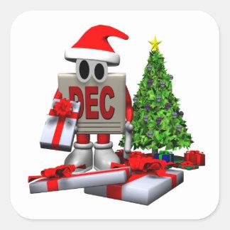 December 4 square sticker