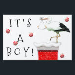 """December Baby Announcement Sign<br><div class=""""desc"""">Creative holiday design announcing &quot;It&#39;s a boy&quot; which can be easily changed to read &quot;It&#39;s a girl&quot;.</div>"""