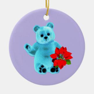 December Bear Ceramic Ornament