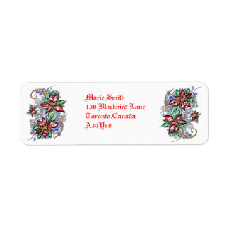 december beauty return address label