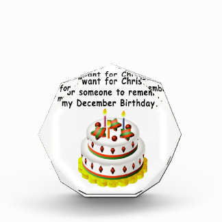 December Birthday Acrylic Award