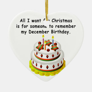 December Birthday Ceramic Ornament