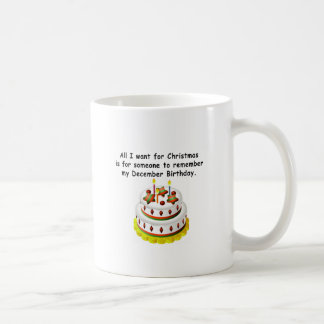 December Birthday Coffee Mug