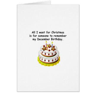 December Birthday Greeting Card