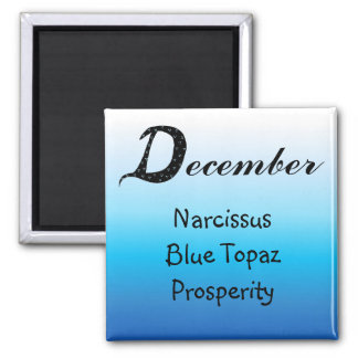 December Birthday Magnet