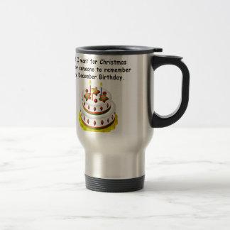 December Birthday Travel Mug