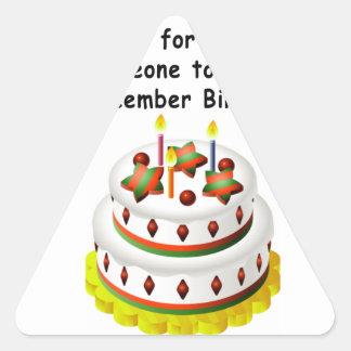 December Birthday Triangle Sticker