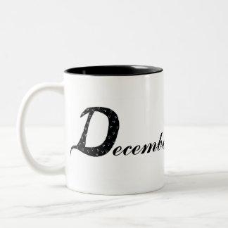 December Birthday Two-Tone Coffee Mug