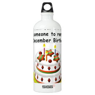 December Birthday Water Bottle