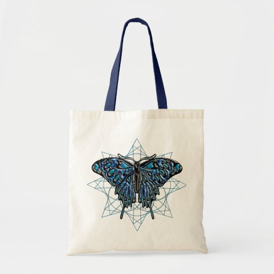 December Birthstone Butterfly Tote Bag