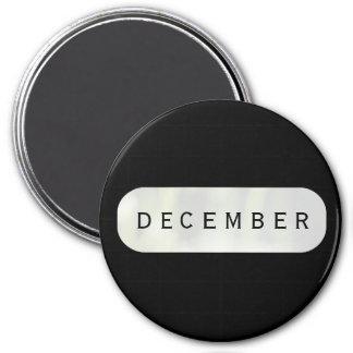 December Black Large Round Magnet by Janz
