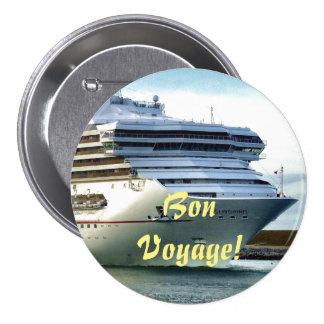 December Bow Bon Voyage Button