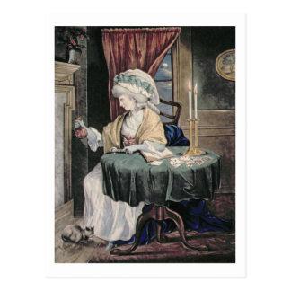 December, c.1790 (w/c on paper) postcard