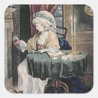December, c.1790 (w/c on paper) square sticker