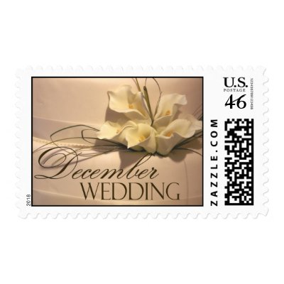 Perfect postage for your December wedding correspondence