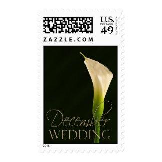 December Calla Lily Wedding Stamp - Customized