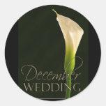 December calla lily wedding stickers