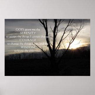 December Evening in Pa Serenity Prayer Poster