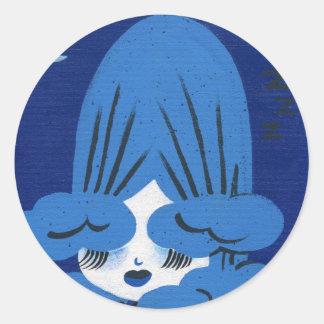 december gal classic round sticker