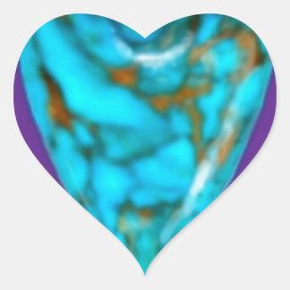 December Gem turquoise Heart by SHARLES Heart Sticker