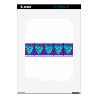 December Gem turquoise Heart by SHARLES Skins For iPad 2