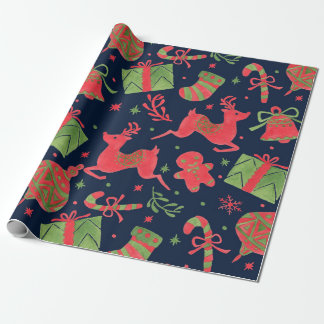 December Holiday Print Gift Wrap