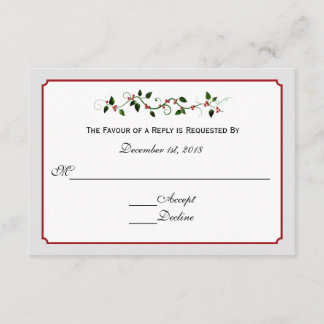 December Holiday Wedding Response RSVP