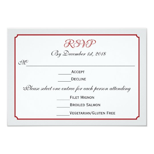December holiday wedding rsvp response with menu card zazzle december holiday wedding rsvp response with menu card stopboris Choice Image