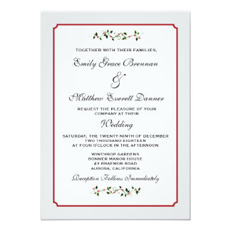 December Holiday Wedding Semi-Casual Invitation