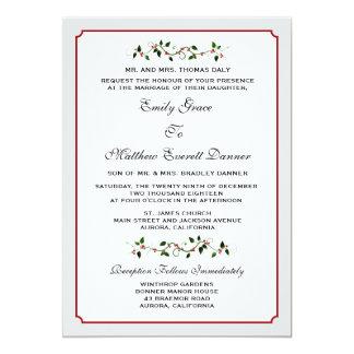December Holiday Winter Formal Wedding Invitation