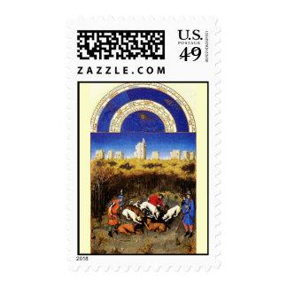 December - Les Tres Riches Heures du Duc de Berry Stamps