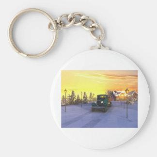 December Morning Keychain