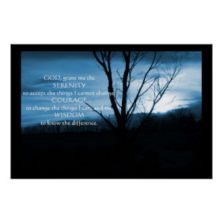 December Night In Pa Serenity Prayer Poster Print