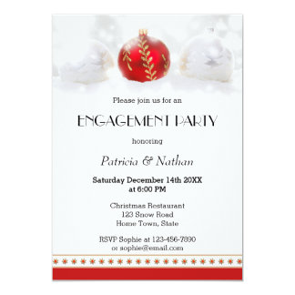 December or Christmas Engagement Party Invitation