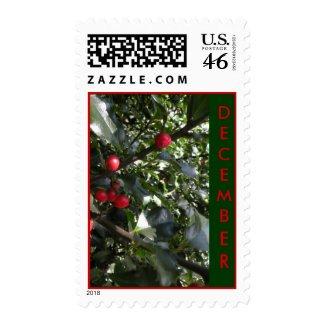 December Postage Stamps