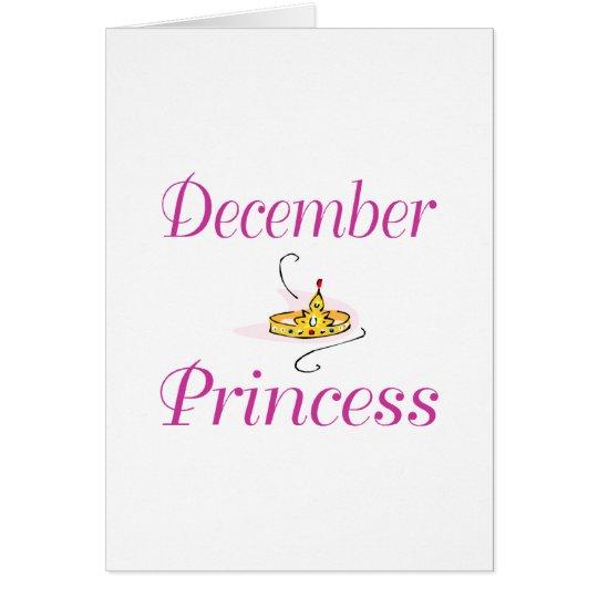 December Princess Card