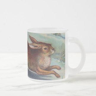 December Rabbit Frosted Mug