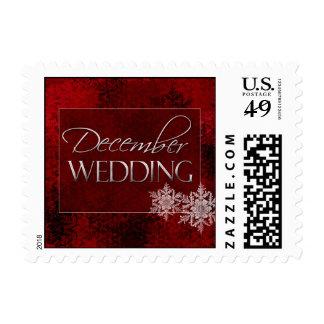 December Snowflake wedding postage