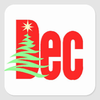 December Square Sticker