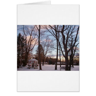 December Sunset Greeting Cards