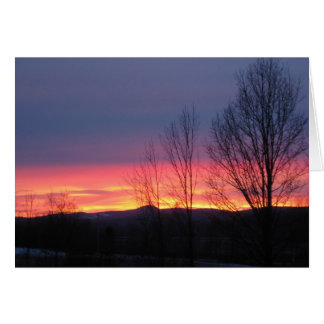 December sunset in Cambridge NY Greeting Card