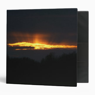 December Sunset, Three Ring Binder. 3 Ring Binder
