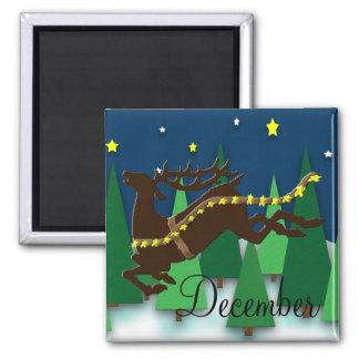 December To Do List Magnet (Reindeer)