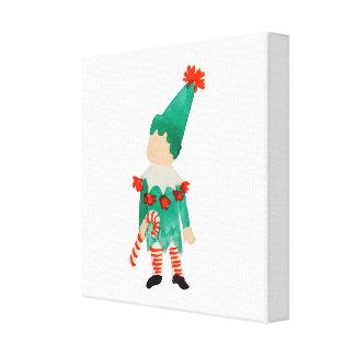 December Toddler Child Christmas Holiday Elf Canvas Print