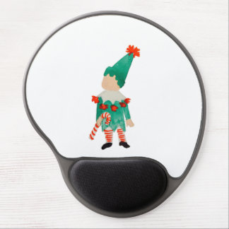 December Toddler Child Christmas Holiday Elf Gel Mouse Pad