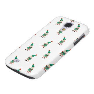 December Toddler Children Christmas Elves Pattern Galaxy S4 Cases