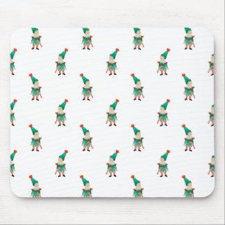 December Toddler Children Christmas Elves Pattern Mouse Pad