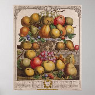 December, 'Twelve Months of Fruits' Poster